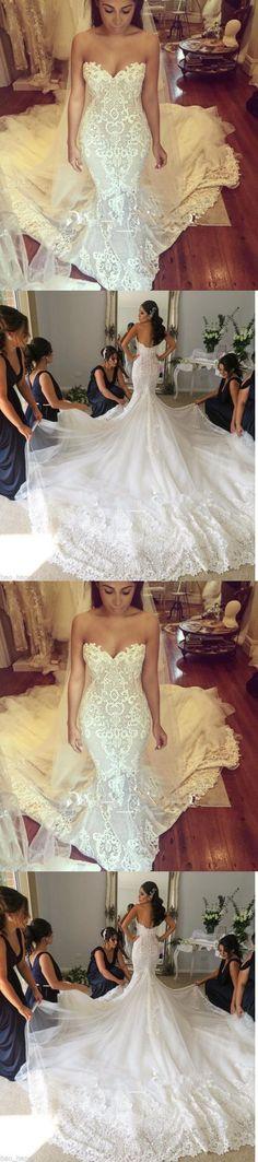 Lace wedding dresses 2018 Wedding Dresses: New Mermaid Lace Wedding Dress Long Bridal Gown Custom 4 6 8 10 12 14 16 18+++++ -> BUY IT NOW ONLY: $126.8 on eBay!