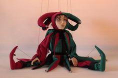 marionette Harlequin marioneta puppet ooak por Etceteramarionetas