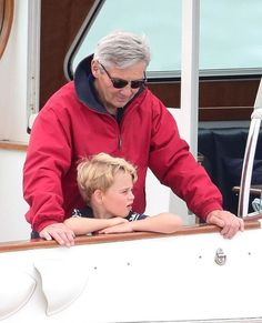 Princess George and Princess Charlotte watch Prince William and Kate Middleton in a sailing regatta Carole Middleton, Middleton Family, Kate Middleton Prince William, Prince William And Catherine, William Kate, Princess George, Princess Charlotte, Prince George Alexander Louis, Prince Edward