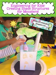 I love watching my little engineers create!! I added the new Next Generation Science Standard (NGSS) for Weather & Climate to my Kindergarten science curriculum  & my kids LOVED the Monster Shade Chal