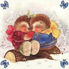 Hallmark Country Companions Hedgehog Christmas Card ~ Brother & Sister-In-Law Hedgehog Art, Cute Hedgehog, Christmas Pictures, Christmas Cards, Cute Animals Images, Pretty Images, Cute Teddy Bears, Penny Black, Animal Drawings