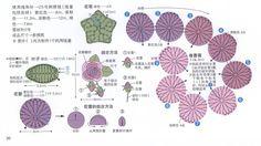 Materiales gráficos Gaby: Gran colecciòn de modelos de flores en miniatura en crochet