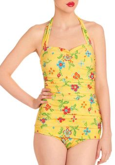 I really love the vintage bathing suit craze that is happening right now -Bathing Beauty One Piece in Needlepoint.
