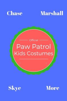 paw patrol costumes for kids