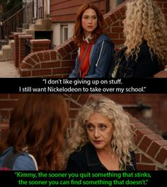 """When Lillian gave Kimmy some advice on why it is always worthwhile to get over a shit someone. 