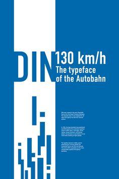 DIN typeface poster : megan mcdonald : 2011
