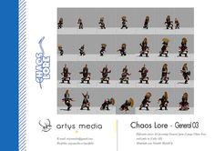 https://flic.kr/p/CeHVRy | Chaos Lore · General 03 | Diferentes poses del personaje General para el juego Chaos Lore realizado en Unity 3D.  Modelado con Trimble SketchUp.
