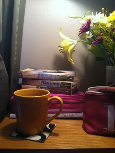 books blanket snow coffee | With my kid sitting in the screen door waiting for Squirrely and ...