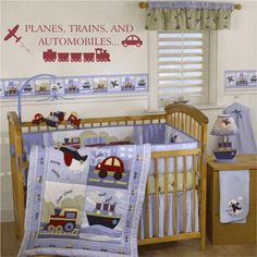 Boy Wall Decals  Planes Trains and Automobiles by fivestarsigns, $39.00