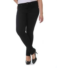 Look what I found on #zulily! Black Skinny Pants - Plus by NINETY #zulilyfinds 6 colors, $9.99