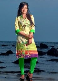 Casual Wear Cotton Multi Colour Embroidered Work Kurti