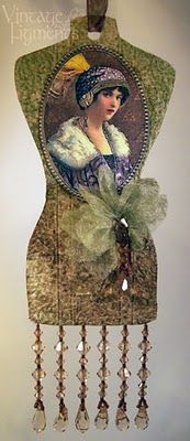 Beautiful dress form tag; free template