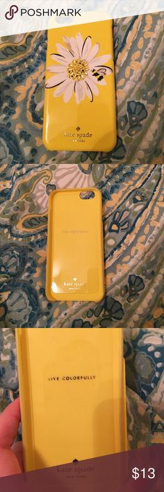 Kate Spade bee and flower phone case Kate Spade yellow case with flower and bee design. Lightly used! iPhone 6/6s kate spade Accessories Phone Cases