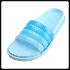WILLIAM&KATE Mens and Women's Indoor Outdoor Summer Casual Gradient Color Anti-slip Slipper … (5UK, Light Blue) - Hausschuhe für frauen (*Partner-Link)