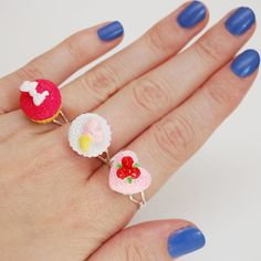 Kawaii and Kitsch Pretty Pink Cupcake Adjustable by JayneKitsch