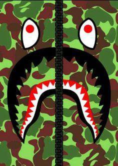 Bape Wallpapers Iphone Nike Wallpaper Supreme 6 Shark Art Hypebeast