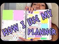 ▶ How I use my Erin Condren planner (UPDATE May 2014) - YouTube  #erincondren #lifeplanner #review