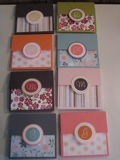 Renae Stamps: Monogram Post It Note Holders Jw Gifts, Craft Gifts, Post It Note Holders, Pioneer Gifts, Craft Show Ideas, Scrapbook Paper, Scrapbooking, Card Sketches, Homemade Cards