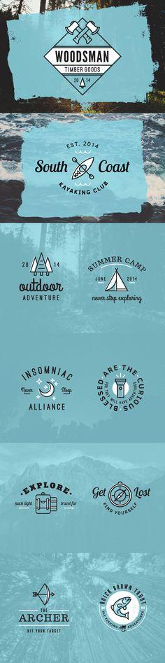 Outdoor Adventure Logos AI, PSD
