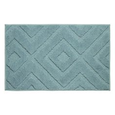 Lilah Plush Micropolyester Textured Bath Mat