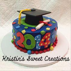 Graduation cake in primary colors!