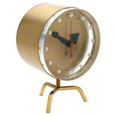 Original George Nelson Tripod Clock | From a unique collection of antique and modern clocks at https://www.1stdibs.com/furniture/decorative-objects/clocks/