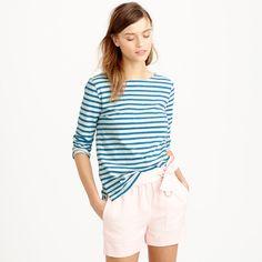 Striped boatneck tee : knits & tees   J.Crew