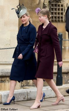 Kate in Catherine Walker for Easter Church Services - What Kate Wore Princess Louise, Princess Charlotte, Princess Diana, Adele, Countess Wessex, Louise Mountbatten, Royal Family Pictures, Lady Louise Windsor, Catherine Walker