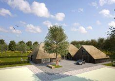 Woningen 01 De Boomgaard - Prinses op de Es Farm Plans, Dutch House, Private Garden, Farm Yard, Pavement, New Construction, The Expanse, Future House, Greenery