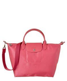 LONGCHAMP LONGCHAMP LE PLIAGE NEO MEDIUM NYLON HANDBAG'. #longchamp #bags #shoulder bags #hand bags #nylon #leather #lining #