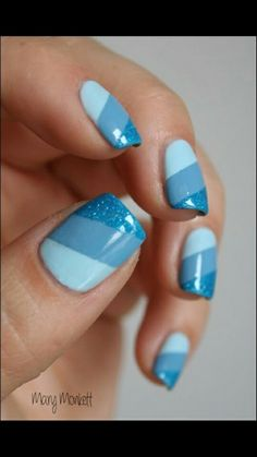 Head over Heels - Top 99 Blue Nail Art Designs Blue Nail Designs, Short Nail Designs, Simple Nail Designs, Nail Polish Designs, Nails Design, Awesome Nail Designs, Blue Nails With Design, Fingernail Designs, Blue Design