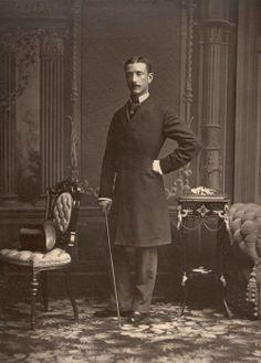 Prince Imperial Napoleon Eugene, tué par les zoulous en Afrique du Sud, en 1879, Cette photographie a été prise une année avant sa mort. Fils de l'Empereur Napoléon III et de l'Impératrice Eugènie.