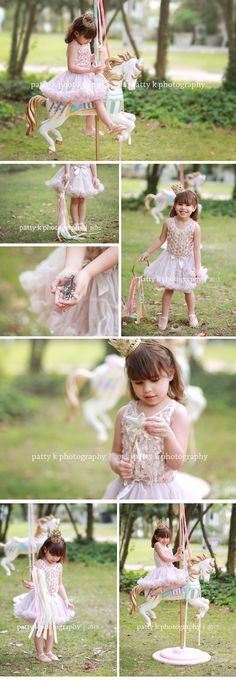 Carousel Horse Minis | Imagination Session | Sophia | Raeford, NC Child Photographer | Patty K Photography