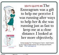 "Death Quote #8 from ""The Enneagram of Death"" by Elizabeth Wagele"