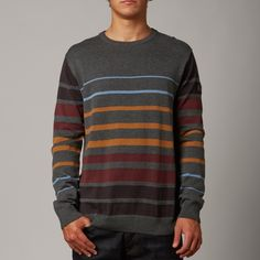 Fox Mens Grindle Sweater: Charcoal Heather £42.00