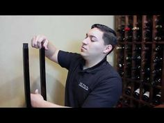 Perfect for creating wine collection display Off the wall on metal floor standing wine rack 2- Sided Display. Maximize wine bottle storage. Easy to Install. Wood Wall Wine Rack, Standing Wine Rack, Wine Bottle Storage, Racking System, Metal Floor, Wine Collection, Displaying Collections, Bottle Design, Wine Cellar