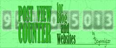 Post View Counter for Blog and Website - Bloganalyzer