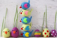 Felted Little birdies, How to from Craft Passion
