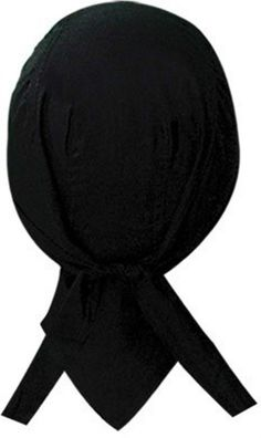 a2ef95f013d Solid Black Doo Rag Durag Headwrap Skull Cap Sweatband Capsmith Deluxe Biker