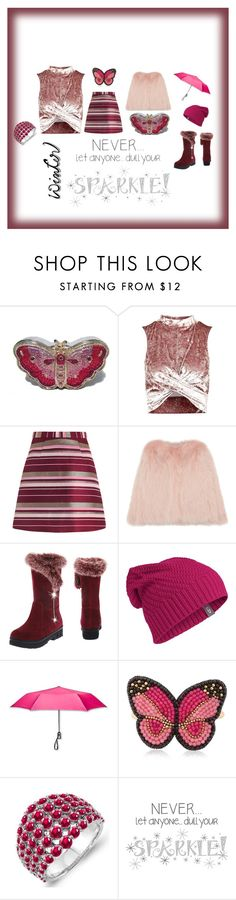 """""""#wintersweater"""" by things-fo4-your-head ❤ liked on Polyvore featuring Judith Leiber, Topshop, Zimmermann, Icebreaker, ShedRain, Kikijewels, Wall Pops! and wintersweater"""