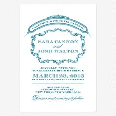 Victorian Luxe Wedding invitations