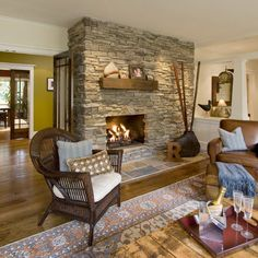 Living Photos 70's Brick Fireplace Update Design, Pictures, Remodel, Decor and Ideas - page 2