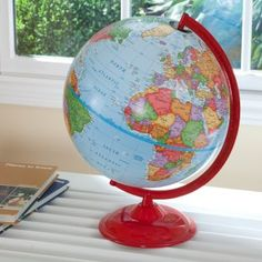 love the painted base on this globe - i need to do this to my globe!!!