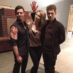 Riley Voelkel, Joseph Morgan and Daniel Gillies
