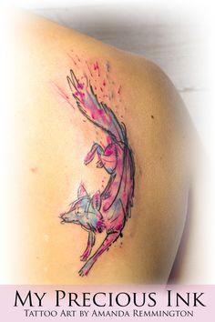 Watercolor Fox Tattoo My precious Ink - Amanda Remmington