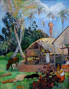 Paul Gauguin Delightful Land Giclee Art Paper Print Poster Reproduction