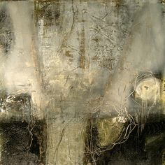 Jeane Myers | The Sky Was Drunk - encaustic mixed media on board.