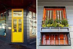 Yellow Gate entrance to Robert Sherwood Design, Bree Street Cape Town.