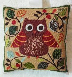 Owl Christmas Gift / Owl Fabric Lavender Bag / Stocking Filler - Handmade