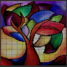 Tiny Cross Stitch, Cross Stitch House, Cross Stitch Kitchen, Cross Stitch Tree, Cross Stitch Flowers, Cross Stitch Charts, Cross Stitch Designs, Cross Stitch Patterns, Cross Stitching